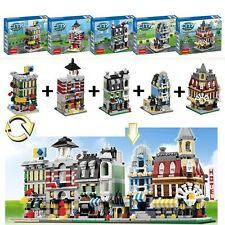 5 sets combination Building blocks city Mini street scenery Children's Toys