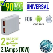 10W Double USB wall charger for iPhone 7,8,X,11, Samsung,LG,HTC,ZTE,HTC,BLU [T10