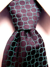Mens Thomas Pink Black Silk Tie Made in Morocco A3664