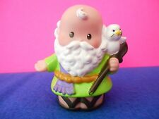 Fisher Price Little People Noah in Green Robe Holding Dove Noah's Ark