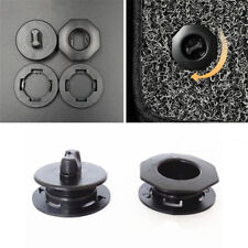 2X Black Premium Car Mat Carpet Clips Fixing Grips Clamps Floor Holders Sleeves