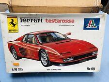Italeri Ferrari Testarossa 1:16 Vintage Mounting Kit New