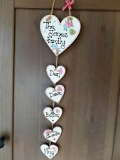 Handmade Heart Family Names Decorative Plaques & Signs