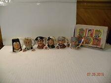 Set of 6 Toby Mugs by Nasco