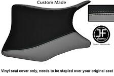 Negro y Gris personalizado de vinilo cabe Honda CBR 250 frontal Rider Cubierta de asiento 2011-2012