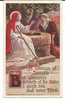 Religious Jesus with Woman at Well 1907 Gannett Unposted