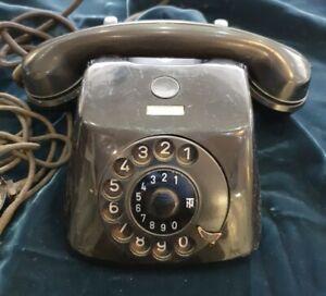 Alte Bakelit Telefon Wählscheibe TN Schwarz