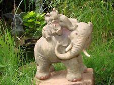 Gartenfigur Elefant Mutter mit Baby Afrika Figur TOP NEU