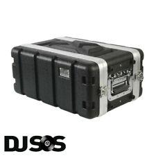Pulse - ABS-4US Rack Flightcase - 4U SHALLOW DJ Gear Case Carry Carrying Flight