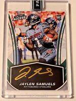 2018 Panini Instant Access GOLD INK rookie AUTO Jaylen Samuels 5/10 Steelers rc!