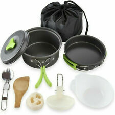 Camping Cookware Kit Outdoor Backpacking Hiking Picnic Cooking Equipment Pot Set