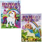 Unicorn World Kids Coloring Book Girls Fantasy Puzzle Activity Books Set of 2