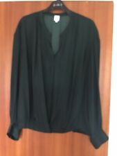 EXCELLENT CONDITION Ladies John Lewis Dark Green Blouse  - Size 14