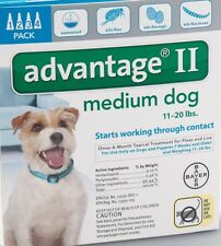 Advantage II for Medium Dogs 11-20 pounds  4 pack
