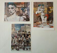 3 cartes postales de Bilal Le Mur et les Phalanges de l'Ordre Noir