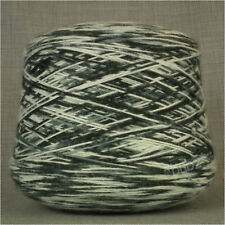 SUPER SOFT SPACE DYED 4 PLY YARN 500g CONE HAND & MACHINE KNITTING WHITE BLUE
