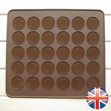 * vendedor Reino Unido * de silicona para hornear macarones Macaroon Hornear Pastel Bandeja plantilla Mat Molde