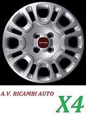 KIT 4 COPPE COPRICERCHI FIAT PANDA 2012 IN POI RAGGIO 14 COD. 1309 MOD.ORIGINALE