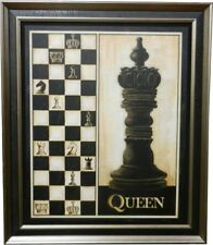 Queen -  New Double Framed Wall Hanging Chess Pieces  (PIC-Queen)