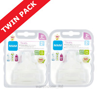 Mam Teats, Medium Flow - TWIN PACK (4 Teats)