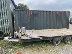 Ifor Williams 16ft flat bed trailer.