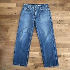 Vintage 90's Levi's 505 Regular Fit Straight Leg Light Wash Denim Jeans 36 X 30
