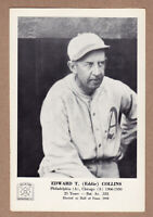 1963 Hall Of Fame picture pack Eddie Collins Philadelphia Athletics 5x7