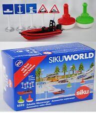 Siku Super 5592 Zubehörpackung Wasserwege incl. Boot für SIKU WORLD 1:50