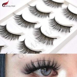 US 3D Mink Eyelashes Natural Long Thick False Makeup Fashion Eye Lashes 5 Pairs