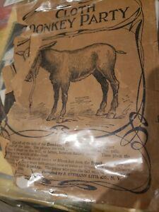 Original Ottmann VINTAGE -OUR DONKEY PARTY-PIN THE TAIL ON THE DONKEY, CLOTH