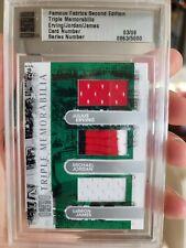 2010 Famous Fabrics Dr Julius Erving Michael Jordan LeBron James Game Used PATCH