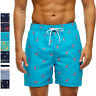 Mens Swim Trunks Quick Dry Boardshorts 5 Inches Inseam Bathing Suits with Lining