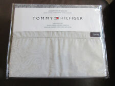 Tommy Hilfiger Twin Sheet Set Paisley Gray Cotton New in Package Rare