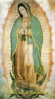 OUR LADY OF GUADALUPE - Laminated  Holy Cards.  QUANTITY 25 CARDS
