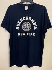 1 Abercrombie & Fitch NAVY mHeritage Crew Men Short Sleeve T-Shirt XTRA LARGE XL