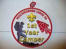 OA Mischigonong Lodge 89,R-?,YEL Fdl,Red Bd,pp,Lake Huron Council,218,374,804,MI