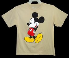 Kid's Sz Xl Mickey Mouse T-Shirt Disney Tan Cotton Slightly Faded Back