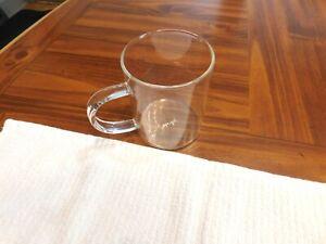 Primula Coffee Mug  13 oz Clear Glass Preowned