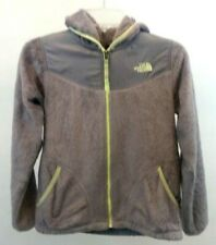 THE NORTH FACE GIRL'S L Coat WINTER FALL HOODIE GRAY FLEECE FAUX FUR