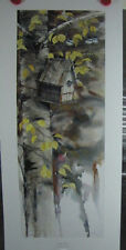 "Mike Capser ""Butt Out"" #200/999 Birdhouse Chickadee Birds Nest Tree"