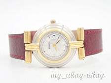 FOSSIL Classic Silver Dial Red  Leather Band Ladies Dress Watch