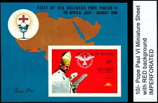 BIAFRA NIGERIA 1969 Mnh M/Sheet Visit of Pope Paul VI to Africa Imperforated