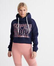 Superdry Womens Flash Sport Crop Hoodie