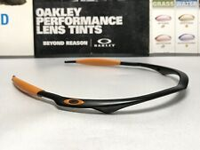 Oakley M Frame Matte Black Frame w/ Orange Icons & Goldenrod Ear Stems - Display