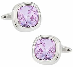 Violet Crystal Cufflinks