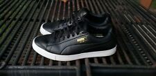 USED Puma Originals Leather G Golf Shoes 192529-03 Black/White Men's Size 9