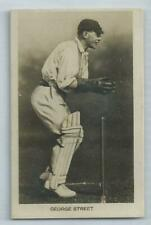 SUSSEX - George Street #14 Boys Realm Famous Cricketers 1922 Card