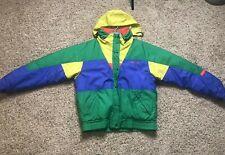 Vintage North Face Type Nevica Ski Jacket Yellow Blue Orange Mens Medium