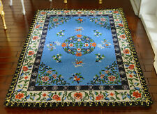 Beautiful Doves Blue Unique Chinese Style Knots Miniature 1/12 Lace Rug