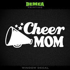 "Cheer Mom - Cheerleading - Style3 - 5"" Vinyl Decal/Sticker - CHOOSE COLOR"